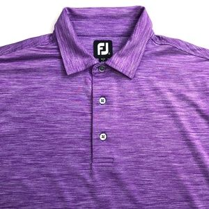 FootJoy FJ Golf Polo Shirt Purple Size XL EUC